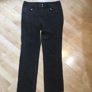 Lauren Jean Co. Black Zipper Pocket Jeans